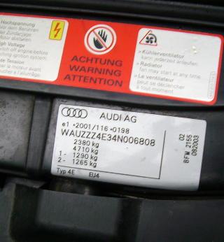 chassisnummer audi